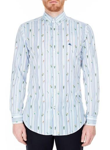 Etro  Slim Fit Gömlek Erkek Gömlek 1K964 6250 990 Beyaz